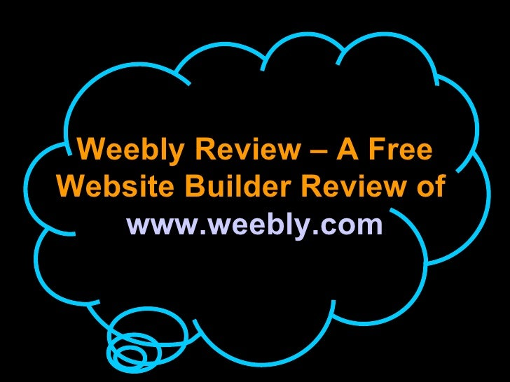 Weebly Website builder available for purchase
