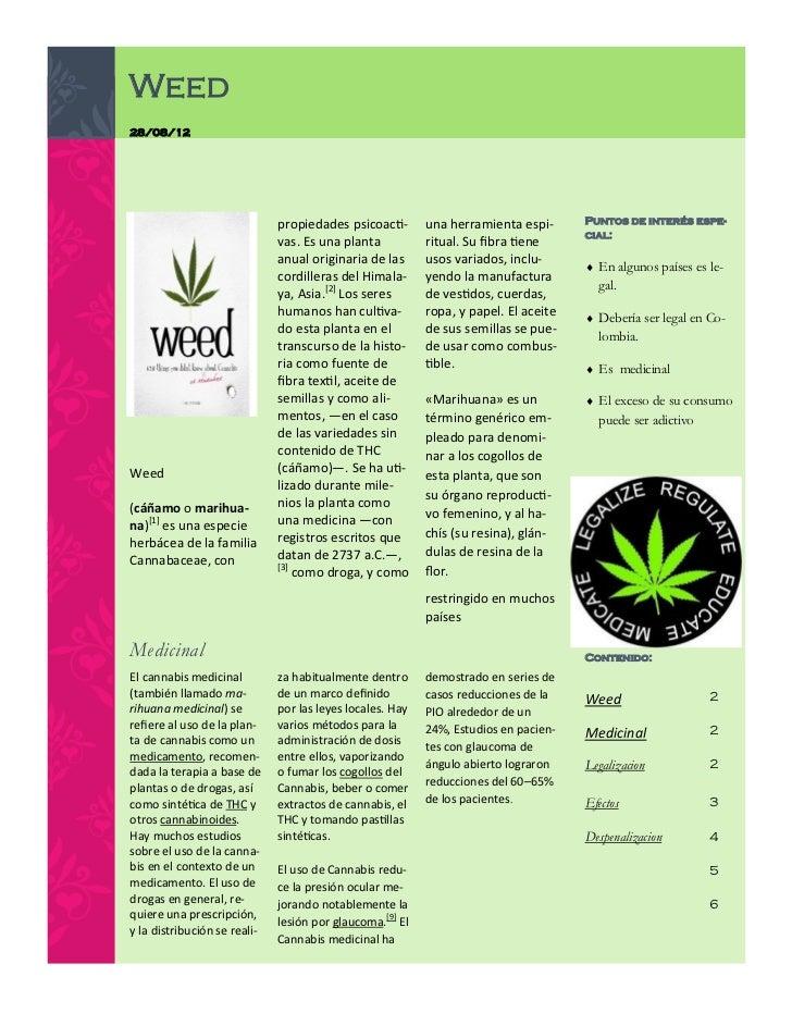 Weed28/08/12                              propiedades psicoacti-       una herramienta espi-      Puntos de interés espe- ...