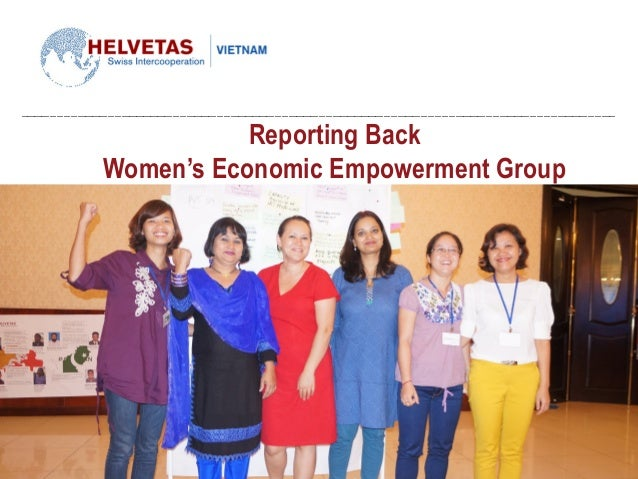 Reporting Back Women's Economic Empowerment Group
