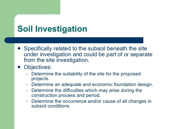 Walk Over Survey | Construction Study Blog