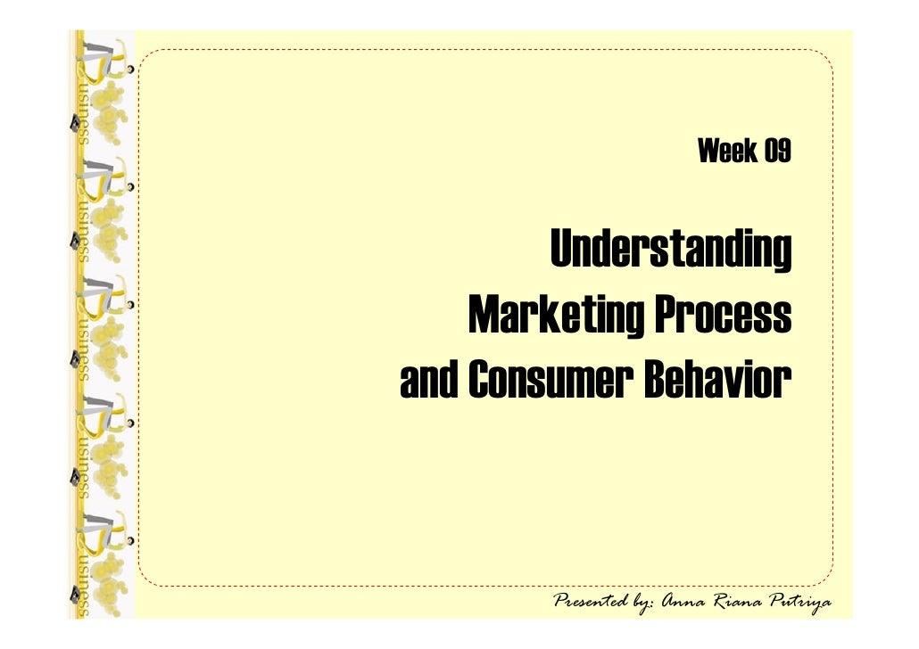 Week 09          Understanding     Marketing Process and Consumer Behavior           Presented by: Anna Riana Putriya