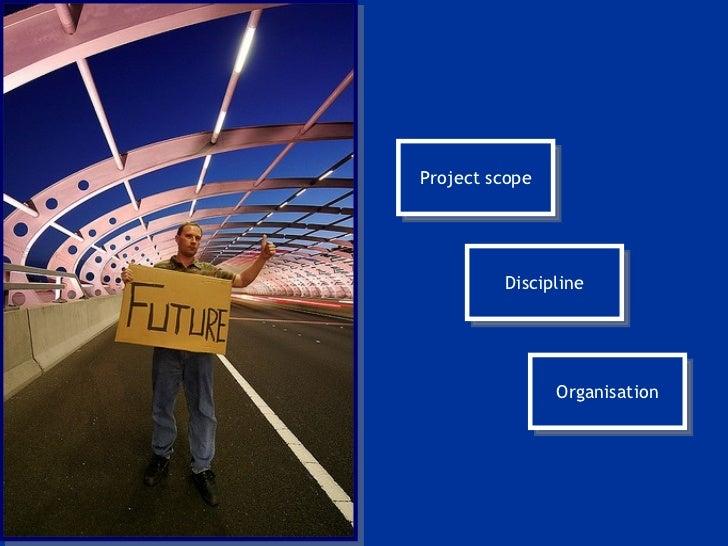 Project scope Discipline Organisation