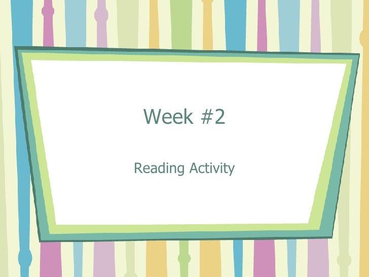 Week #2 Reading Activity