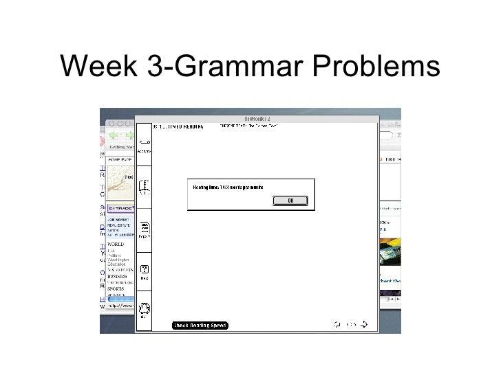 Week 3-Grammar Problems