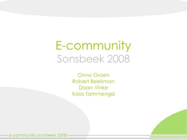 Week 3 - Voortgangspres Sonsbeek 2008