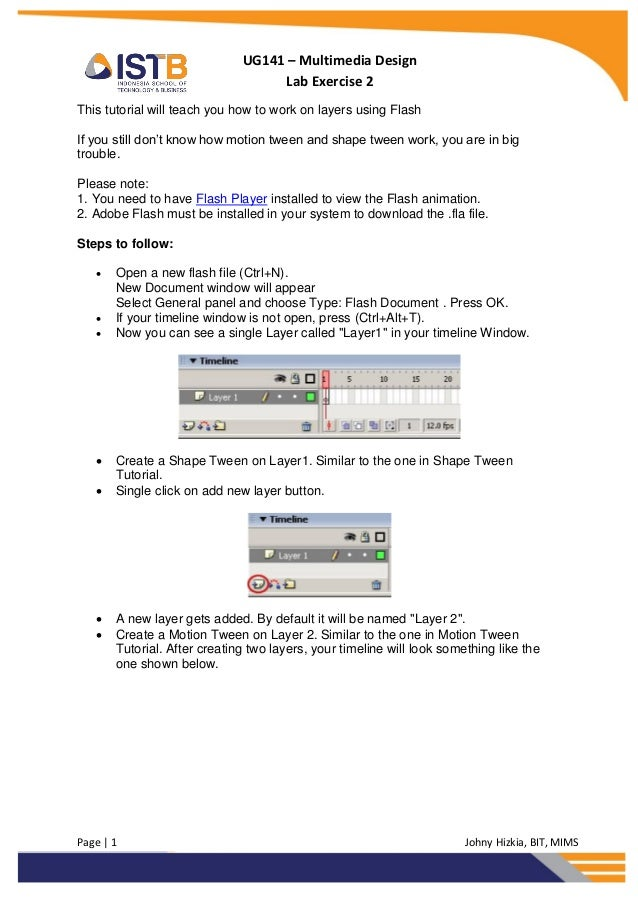 UG141 – Multimedia Design                                   Lab Exercise 2This tutorial will teach you how to work on laye...