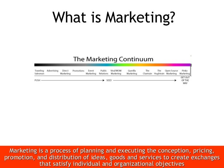 What is Marketing? <ul><li>Marketing is a process of planning and executing the conception, pricing, promotion, and distri...