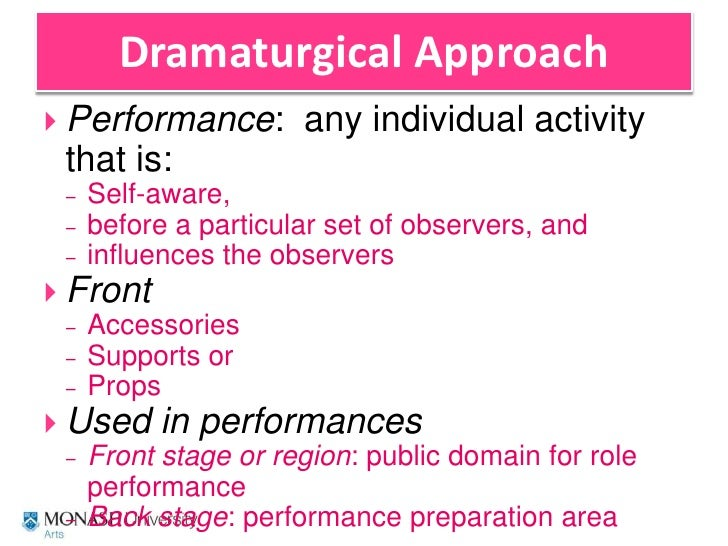 goffman impression management Order instructions erving goffman's impression management and dramaturgy symbolic interactionists focus on how we create meaning through our social interactions.