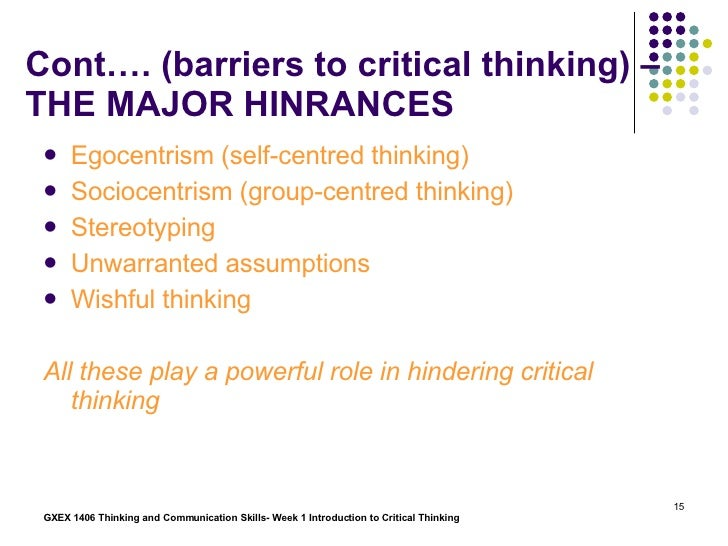how do you define/explain thinking what is critical thinking Qualities of a critical thinker if you use critical thinking, you will be able to make better decisions and be less what is critical thinking - definition.