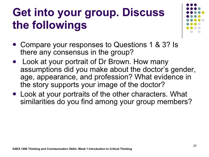 A consensus statement on critical thinking