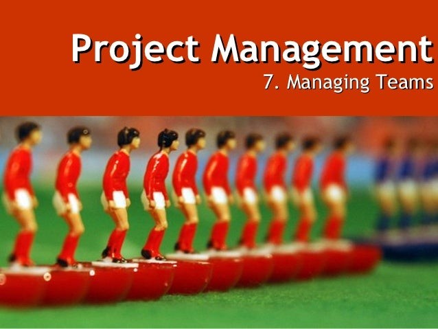 Project Management         7. Managing Teams
