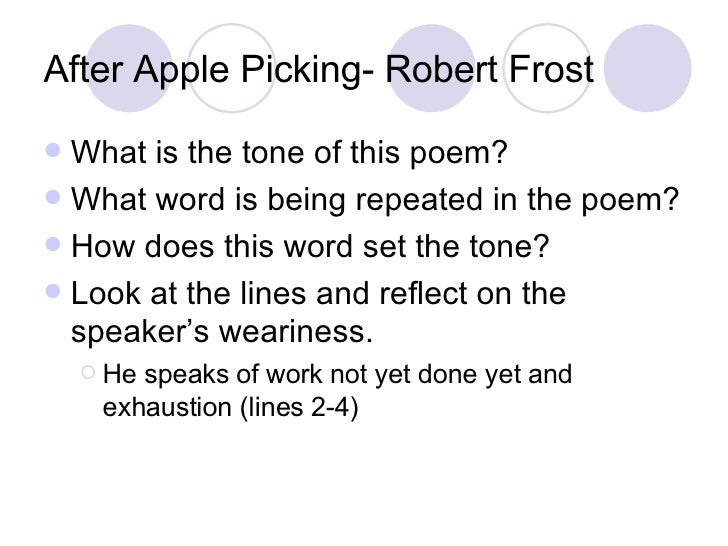 A Look At The Imagery In The Poem After Apple Picking By Robert