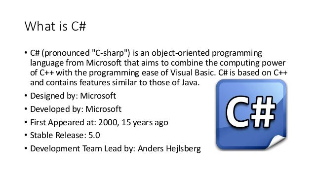 Introduction to C# - Week 0 Slide 3