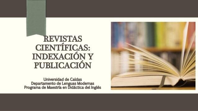 Tipos de revistas indexadas