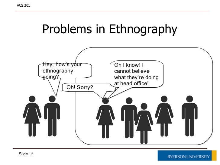 workplace ethnography Ethnography is the study of customs of people and cultures this two-course sequence will introduce different perspectives on the customs of work as you investigate a range of careers.