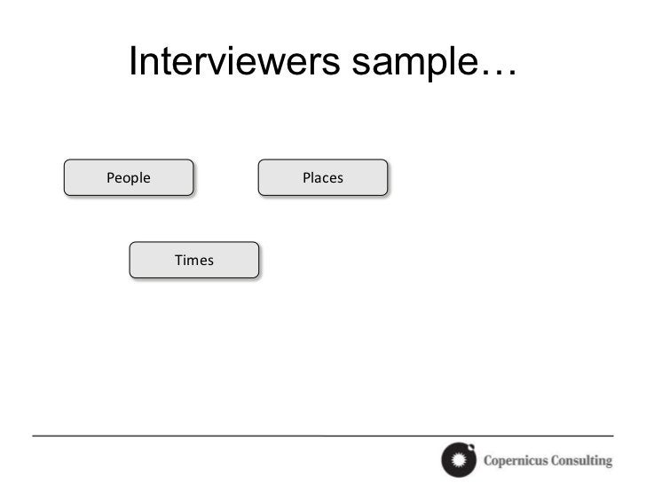Interviewers sample…People           Places         Times