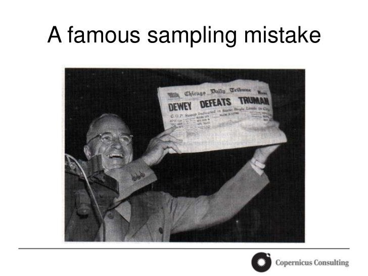A famous sampling mistake
