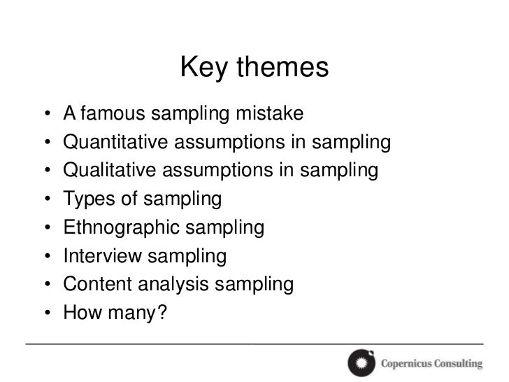 Sampling Methods In Qualitative And Quantitative Research