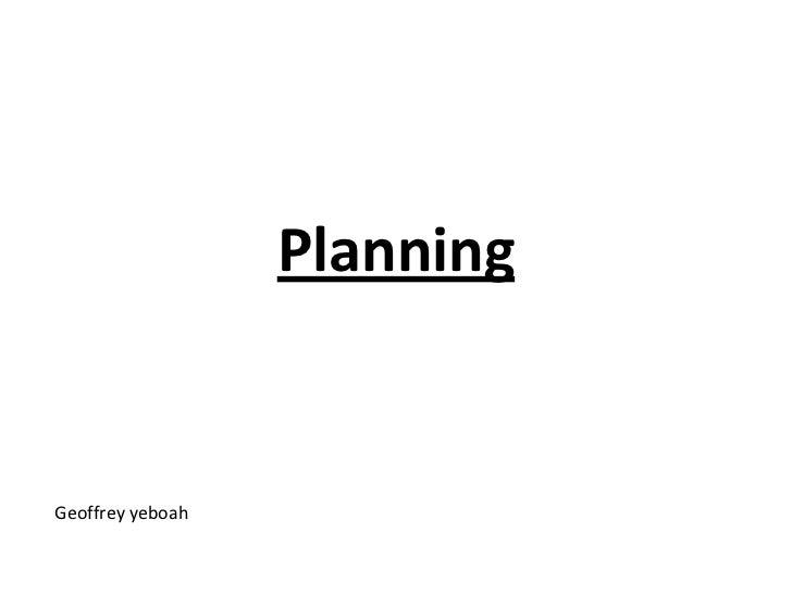PlanningGeoffrey yeboah