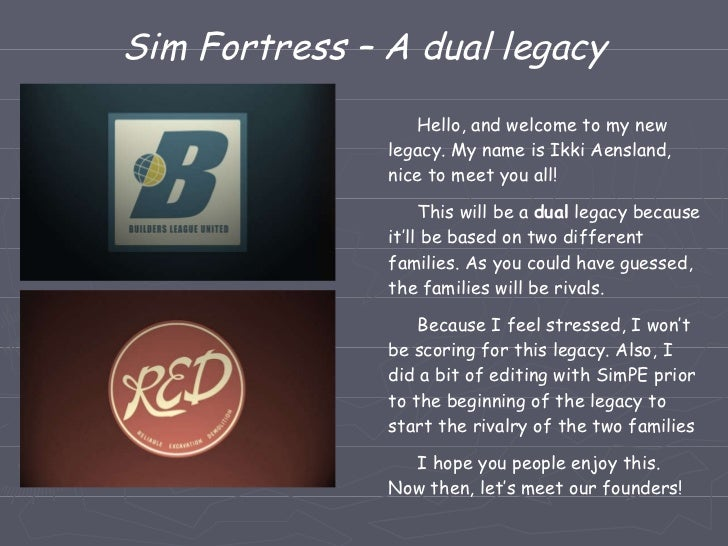 Sim Fortress – A dual legacy Hello, and welcome to my new legacy. My name is Ikki Aensland, nice to meet you all! This wil...