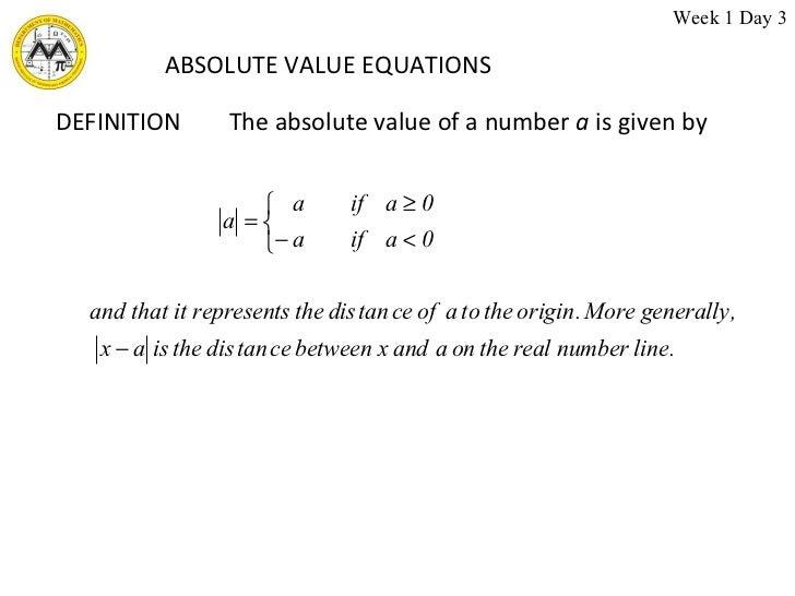 mathematical term equation