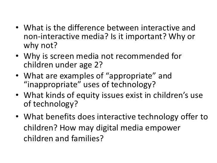 Week 1, Mass Media and Children