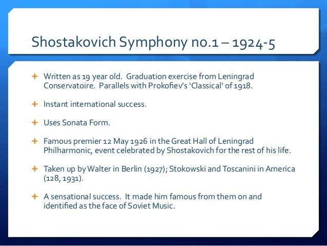 Week 1 lecture 2 early soviet music shostavovich 1 copy