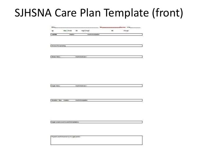 Week 10-Care Plan 3/18/15