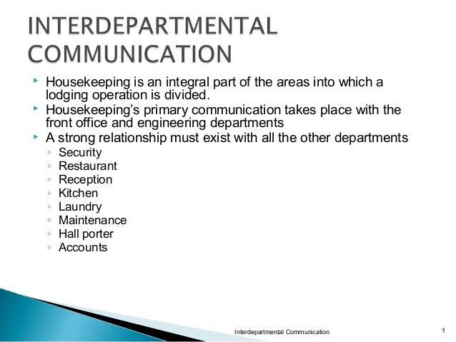 inter departmental communication