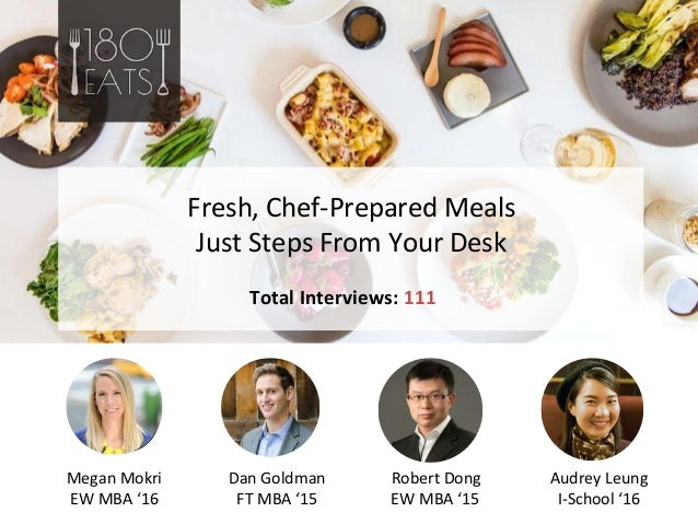 Photo Dan Goldman FT MBA '15 Robert Dong EW MBA '15 Photo Fresh, Chef-Prepared Meals Just Steps From Your Desk Total Inter...