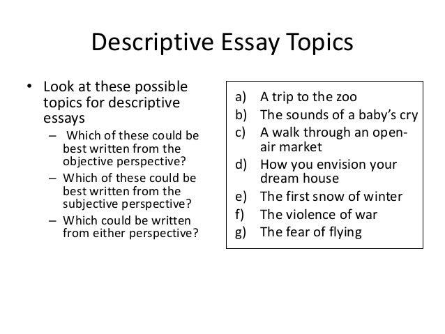 week eng ppt descriptive essay