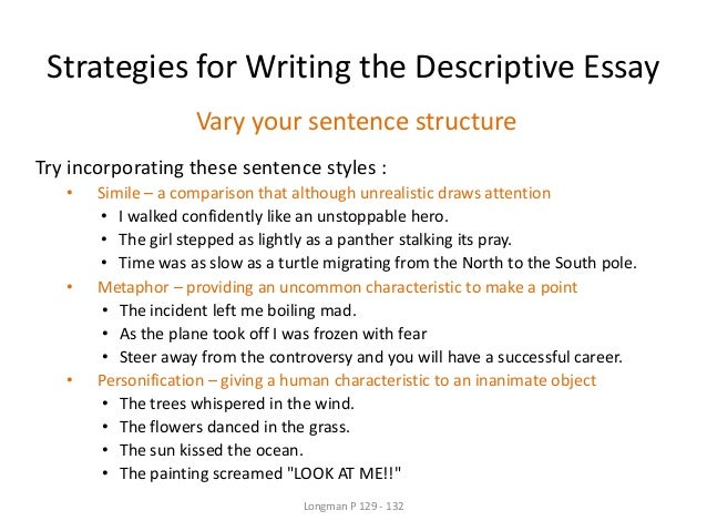 week eng ppt  sensory language 7 strategies for writing the descriptive