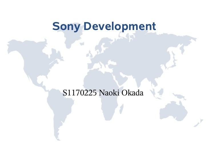Sony Development S1170225 Naoki Okada