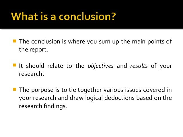 summary conclusions recommendations research paper