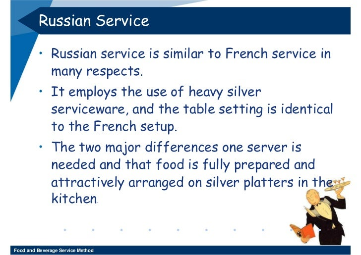 RUSSIAN SERVICE Food and Beverage Service Method; 65.  sc 1 st  SlideShare & Week 11 - 12 Food And Beverage Service Method 3-2552
