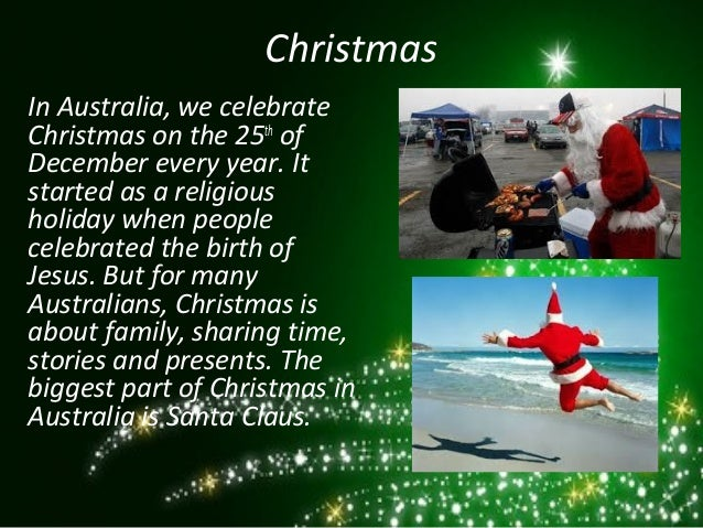 christmas in australia we celebrate - When Is Christmas Celebrated