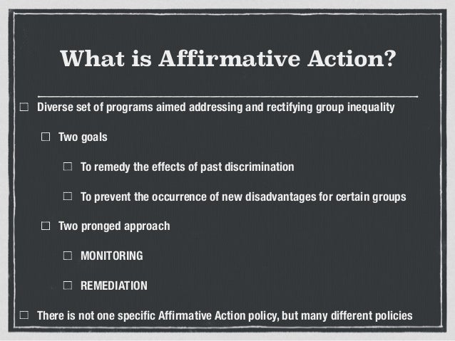 Is affirmative action necessary