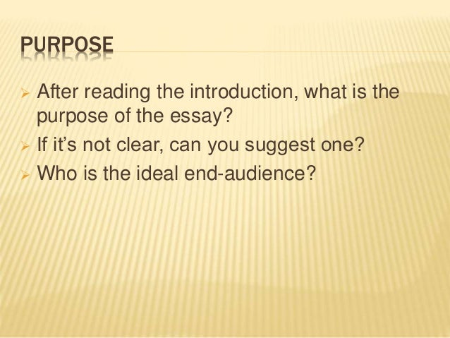 peer essay evaluation questions Peer evaluation essay writer peer editor answer the following questions use the back of this page or another page if necessary 1 does this essay have an introduction that is in a paragraph separate from the rest of the essay.