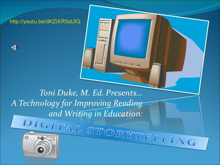 Toni Duke, M. Ed. Presents… A Technology for Improving Reading and Writing in Education: http://youtu.be/dKZiXR5qUlQ