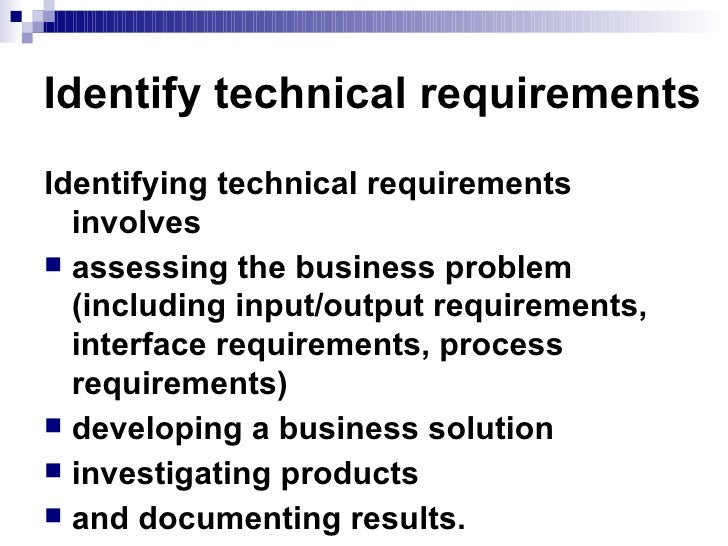 Week Determine Technical Requirements - How to write technical requirements