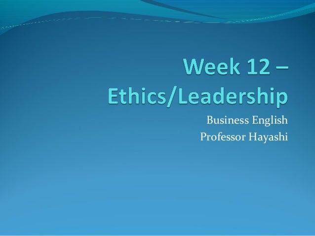 Business English Professor Hayashi