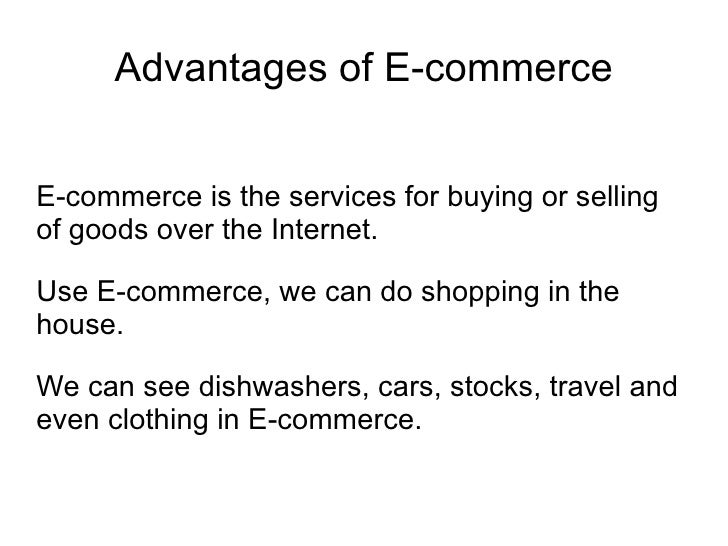 a discussion of the advantages and preferences of e commerce Ecommerce hosting & discussion discuss web hosting payment processors, payment systems, merchant accounts, online banking, shopping carts and billing systems for ecommerce solutions.