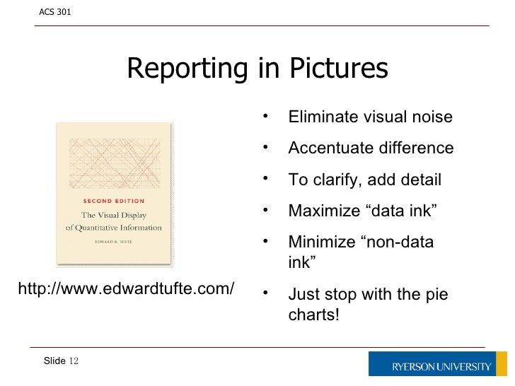 ways of reporting data
