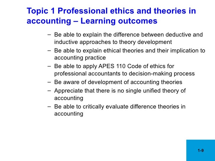 apes 110 code of ethics for [supersedes apes 110 code of ethics for professional accountants (issued in  june 2006 and subsequently amended in february 2008)] issued: december.