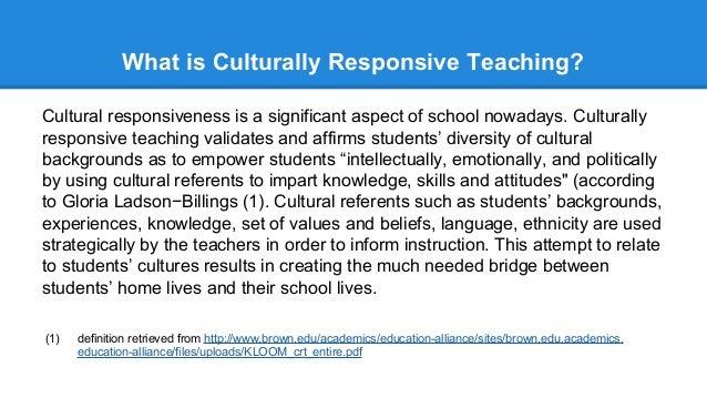 Week 15 Presentation Culturally Responsive Teaching