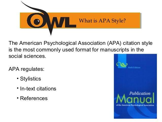 what is apa formatt