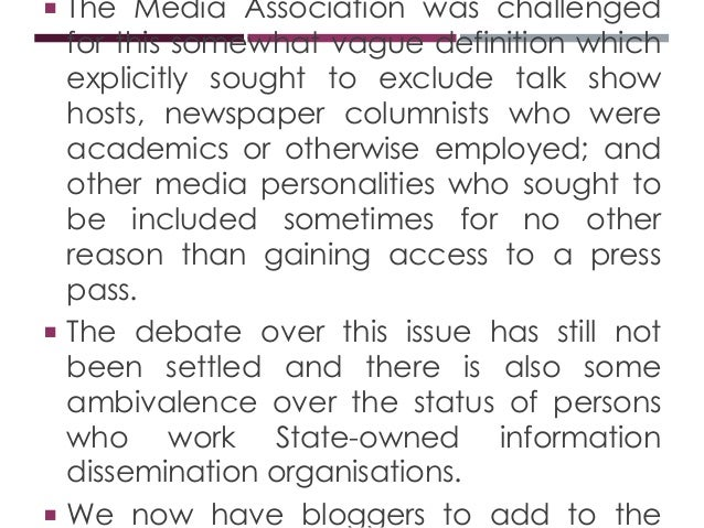 Week 1 Definition and Forms of Journalism