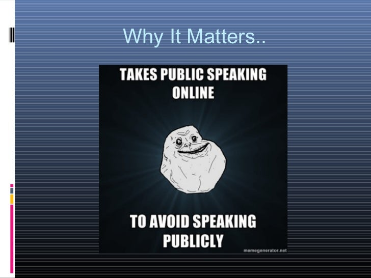 Why It Matters..