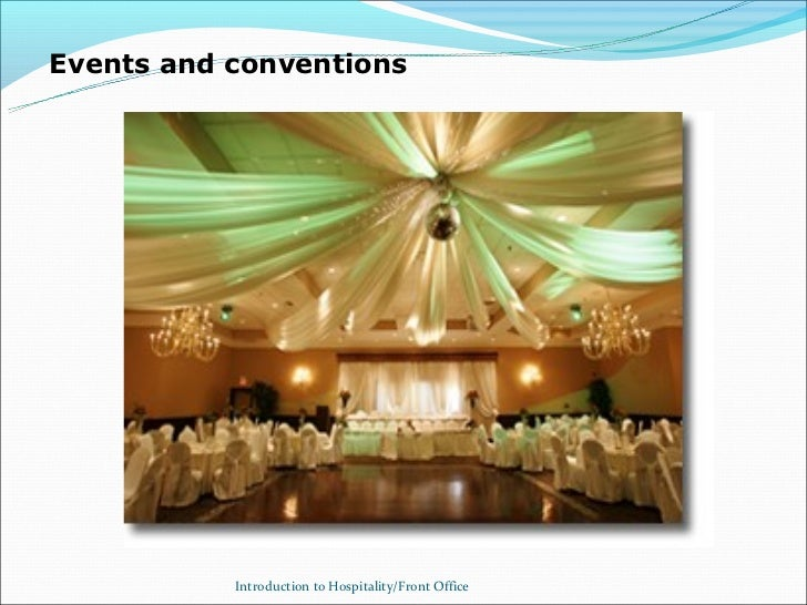 Events and conventions           Introduction to Hospitality/Front Office