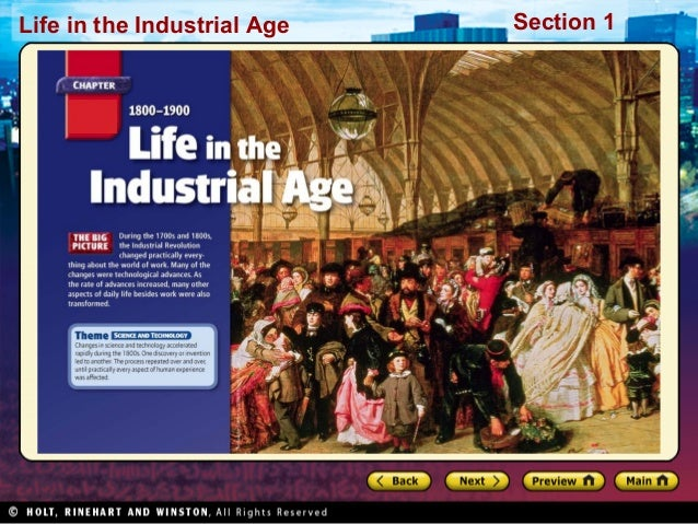 Life in the Industrial Age  Section 1